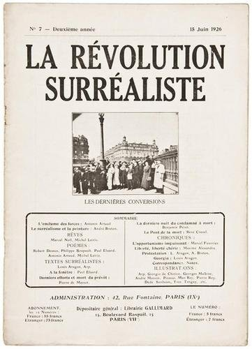 6F: Eugène Atget- La Révolution Surrealiste. No 7