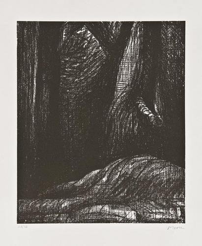 240F: Henry Moore 3 lithographs from Auden Poems Portfo