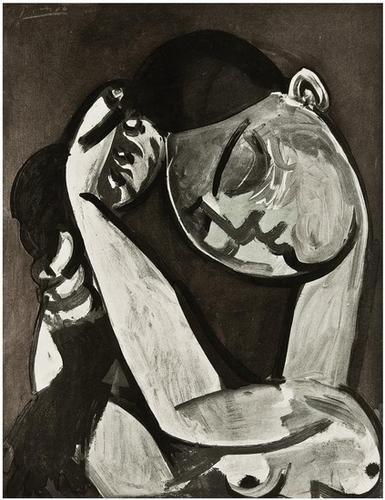 254F: Pablo Picasso Femme se Coiffant