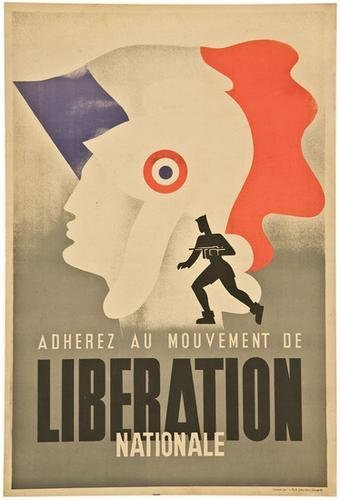 2: LIBERATION NATIONALE - FRENCH WORLD WAR 2 POSTER