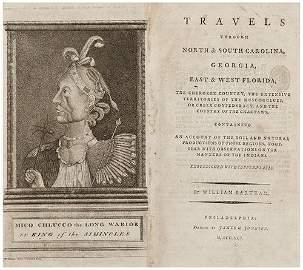 305: BARTRAM, William. Travels through North & South Ca