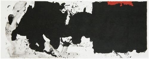 13: Robert Motherwell Black with No Way Out (B.285)