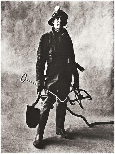8: Irving Penn (b. 1917) Sewer Cleaner, New York, 195
