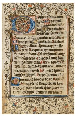 5: BOOK OF HOURS, [use of Amiens], in Latin. [France