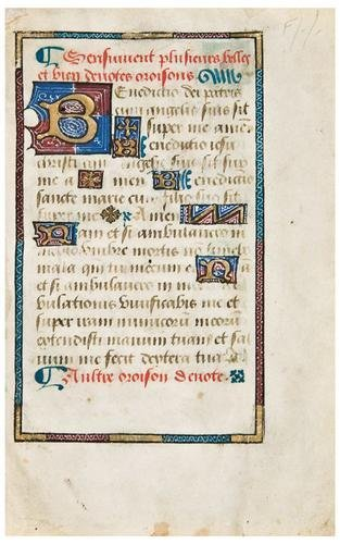 6: A PRAYER BOOK, in French. [France, early 15th Cent