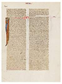 8: A FRAGMENT OF A BIBLE, in Latin. [France, attribut