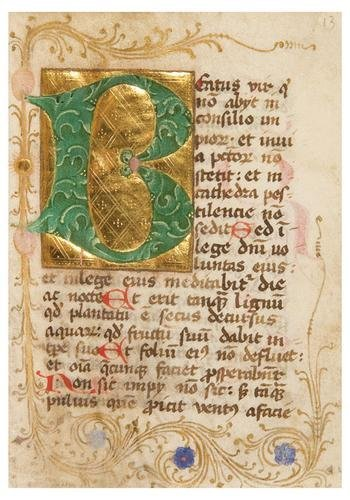 10: PSALTER, with Calendar, in Latin. [Germany, possib