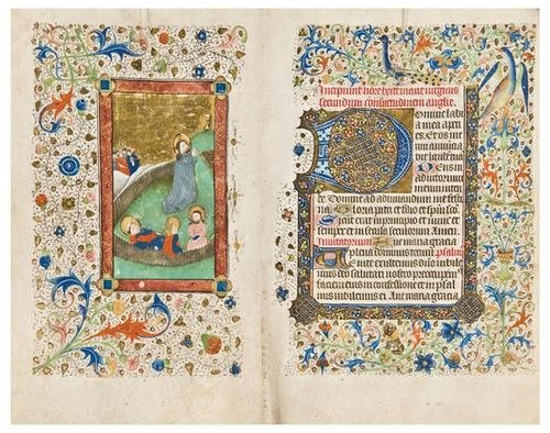 12: BOOK OF HOURS, use of Sarum, in Latin. [Flanders,