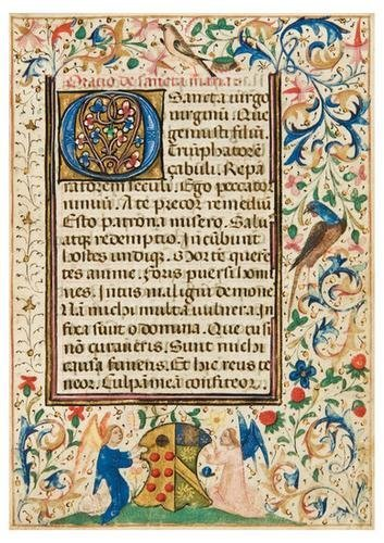 13: BOOK OF HOURS, use of Rome, in Latin. [Northern Fr