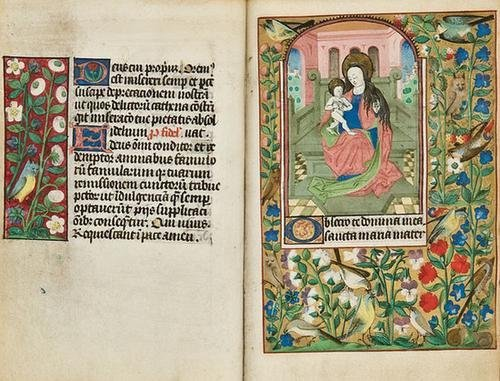 15: BOOK OF HOURS, [use of Bourges], in Latin. [Northe