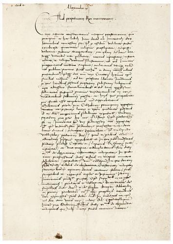 18: PAPAL MANUSCRIPT. [Rome] 1485-1519.  A collection