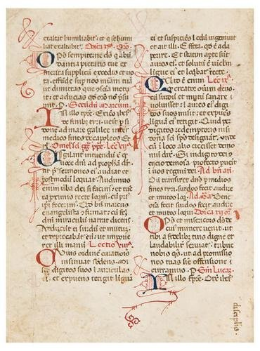 19: BREVIARY, with calendar, in Latin. [Northern Italy