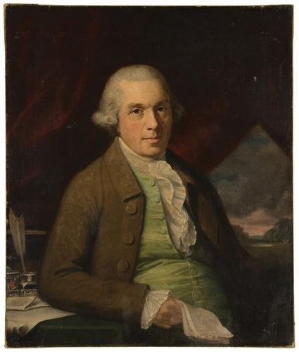 4: American School, 18th Century. Portrait of a gentl