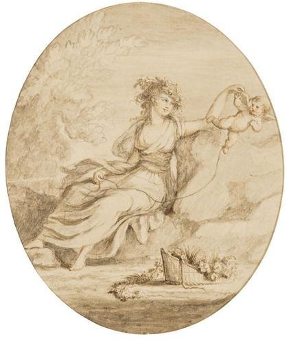 9: Lady Diana Beauclerk (1734 - 1808). A group of thr