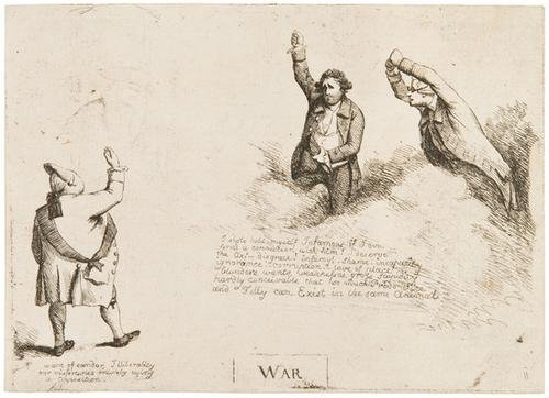21: George Dance (1741 - 1825).  Group of seven charac