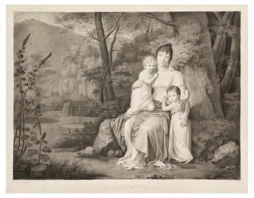 23: Laure De Bry (active 1818). Portrait of a mother w