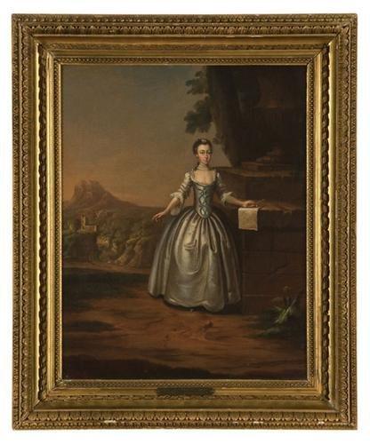 24: Arthur Devis (1712 - 1787).  Portrait of a lady sa
