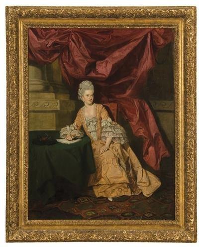 379: Johann Zoffany (1733 - 1810). Portrait of Mrs. Thr