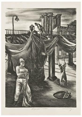 5: American Printmakers Three lithographs.