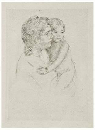 Mary Cassatt Denise Holding her Child