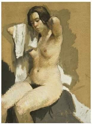 Harvey Dinnerstein (b.1928) Seated Nude