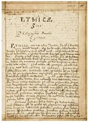 MANUSCRIPT DIARY, in Latin. (17th century). Ethica