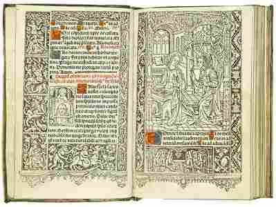21: HORAE, in Latin. Sequutur septe hore canonice bte