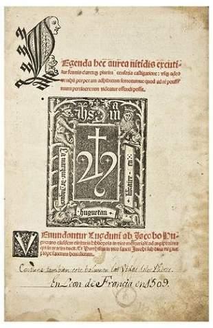 VORAGINE, Jacobus de (c.1230-c.1298). Legenda aure