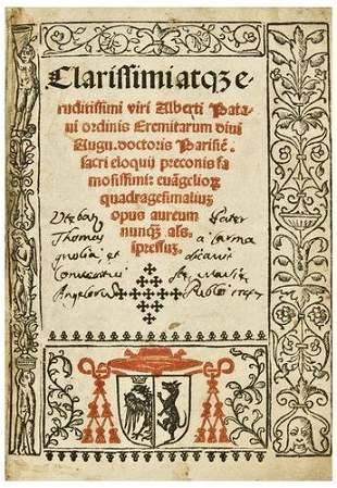 ALBERTO OF PADUA (d.1280). Clarissimi atque erudit