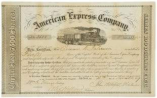 AMERICAN EXPRESS - BUTTERFIELD, John and William F