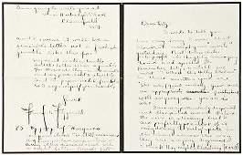 50: FITZGERALD, F. Scott. Autograph letter signed to E