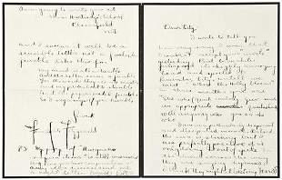FITZGERALD, F. Scott. Autograph letter signed to E
