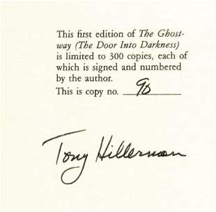 HILLERMAN, Tony. Three First Editions; Each Signed