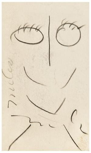 202: Miles DAVIS (American, 1926 - 1991) Self-portrait.