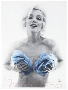 Bert Stern (b. 1930) Marilyn with blue roses, 1962