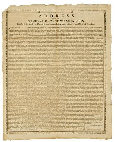 6: BROADSIDE - George WASHINGTON. Address of the late