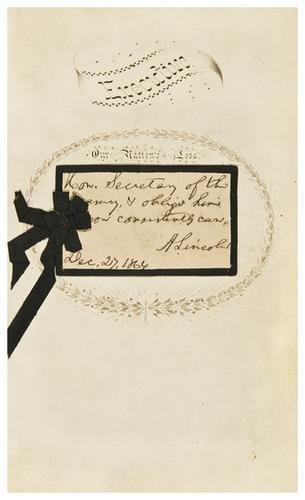 22: CIVIL WAR -- Abraham LINCOLN (1809 - 1865). Autogr