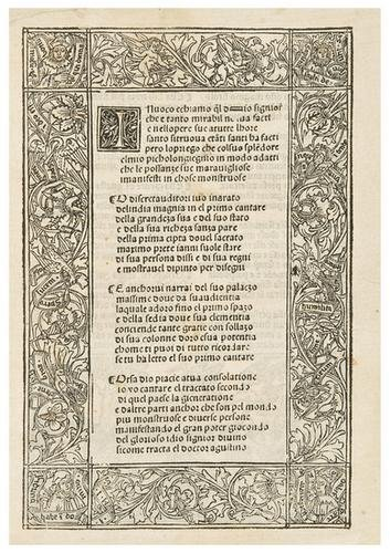 3: DATI, Giuliano (1445-1523).  Il Secondo Cantare de