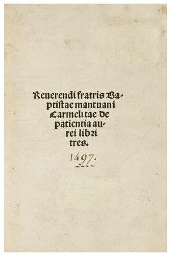 4: BAPTISTA MANTUANUS, Giovanni Baptista Spagnuoli, (