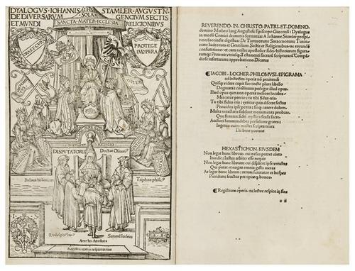 6: COLUMBUS, Christopher -- STAMLER, Johann Dyalogus.