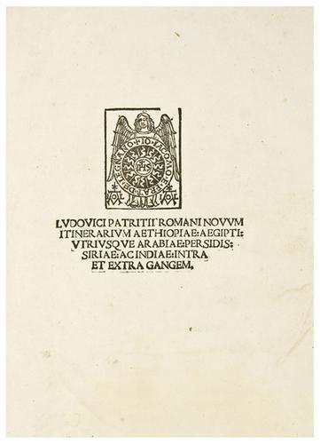 7: VARTHEMA, Ludovico di  Novum itinerarium Aethiopia