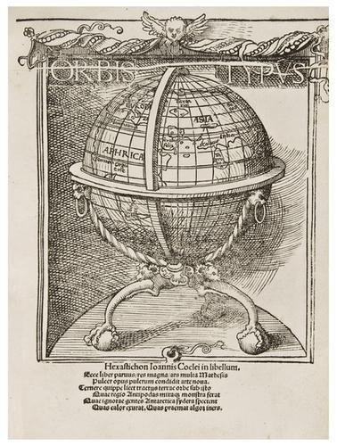9: SCHOENER, Johann (1477-1547). Luculentissima quaed