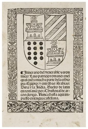12: VARTHEMA, Ludovico di. Itinerario. En el Qual Cuet