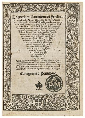 15: CORTÉS, Hernando (1485-1547). La preclara Narratio
