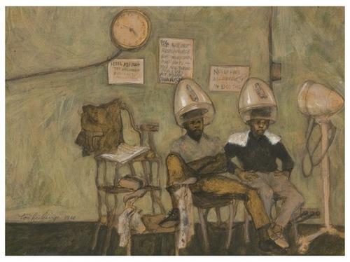4: Tom FEELINGS (1933 - 2003). Boys at the Barbershop