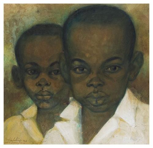 8: Tom FEELINGS (1933 - 2003). Two Ghana Boys.
