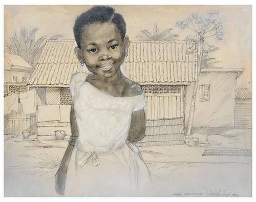 9: Tom FEELINGS (1933 - 2003). Ghana Girl.
