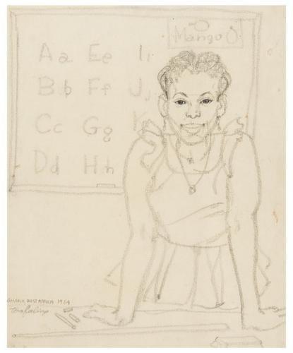 12: Tom FEELINGS (1933 - 2003). Ghana drawings.