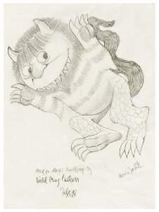 323: SENDAK, Maurice (b. 1928) Wild Thing Balloon
