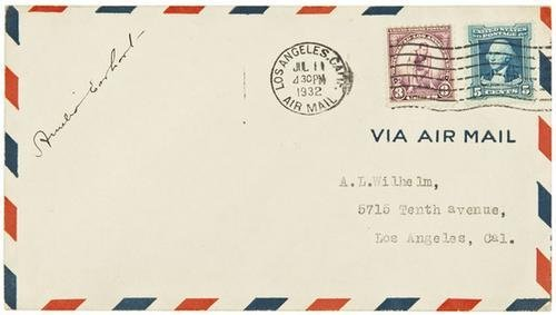 1: AVIATION -- Amelia EARHART (1897 - 1937). Autograp